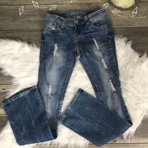 Zco distressed boot cut Jeans